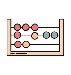 School education math abacus arithmetic supply vector