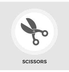Scissors flat icon vector image
