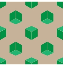 Seamless pattern of cubes Isometric effect vector image