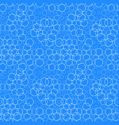 seamless pattern with circles bubbles aqua water vector image