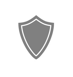 security assurance guard shield gray icon vector image