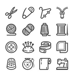 sewing icon vector image