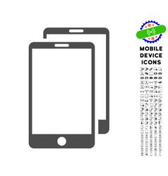 Smartphones icon with set vector