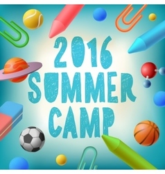 Summer camp 2016 themed poster vector