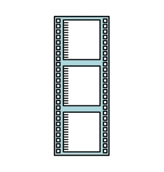 tape roll cinema isolated icon design vector image