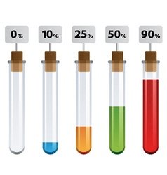 Test tubes percent infographic vector
