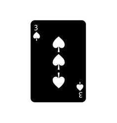 three of spades french playing cards related icon vector image