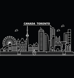 Toronto city silhouette skyline canada - toronto vector