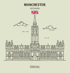 town hall in manchester vector image