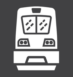 train glyph icon transport and vehicle vector image