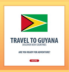 Travel to guyana discover and explore new vector