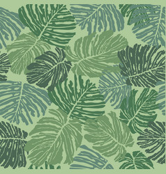 tropical leaves seamless pattern beautiful floral vector image