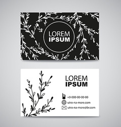 Two sided business card for natural eco product vector image