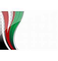 Uae color flag background vector