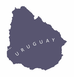 uruguay silhouette map vector image