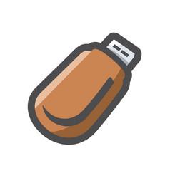 usb flash drive icon cartoon vector image
