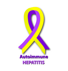 Violet yellow ribbon hepatitis world day vector