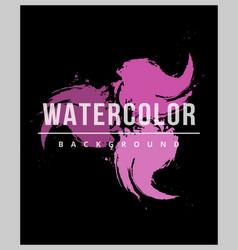 Watercolor splash texture background vector