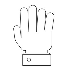 all finger icon outline style vector image