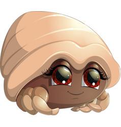 bright crab cartoon vector image