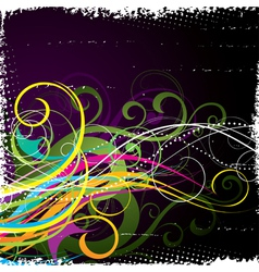 bright vegetative abstraction vector image vector image