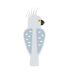 Cartoon parrot wild animal parrot bird tropical vector image