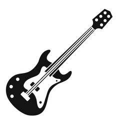 classical electric guitar icon simple style vector image