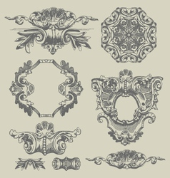 decorative vintage engravings vector image vector image
