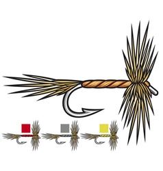 fly fishing flies vector image vector image