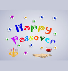 jewish holiday passover background vector image vector image