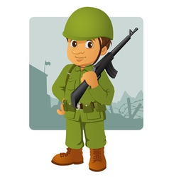 military man vector image vector image