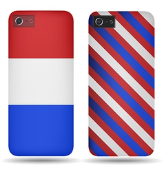 Rear covers smartphone with flags of Netherlands vector image