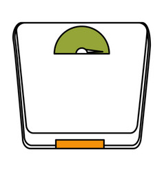 scale balance gym isolated icon vector image
