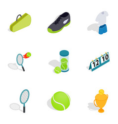 sport elements icons isometric 3d style vector image vector image