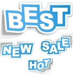 sticker set for sale vector image vector image