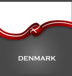 Denmark sport style flag ribbon classic style vector
