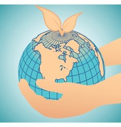 geography globe vector image vector image