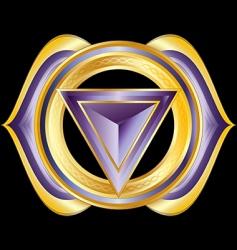 Hindu chakra ajna vector image vector image