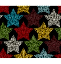 Seamless pattern of crochet stars vector image vector image