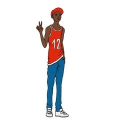 Black guy Street art style vector image vector image