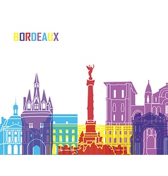 Bordeaux skyline pop vector image