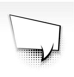 comic empty paper babble soft shadow square vector image vector image