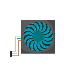 computer cooler turbine icon propeller fan vector image