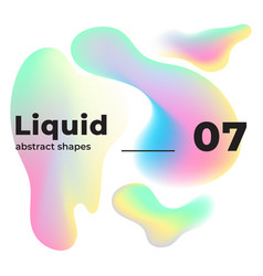 liquid colorful shapes multicolor ink vector image