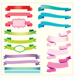 set ribbons and banners vector image