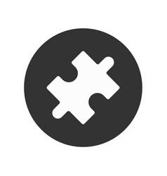 1 puzzle vector image
