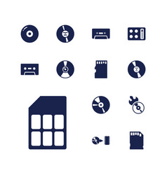 13 compact icons vector