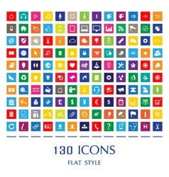130 Web Icons vector