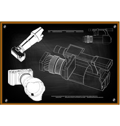3d model of the camera vector image