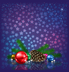 abstract christmas greeting with silhouette of vector image